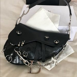 ISO Dior Pierced Saddle Bag